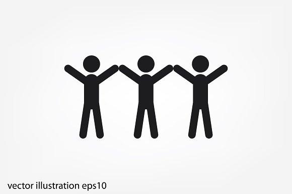 3 people icon ~ Icons ~ Creative Market