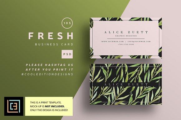 Fresh Business Card 105