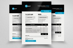 A4 Invoice Business Template