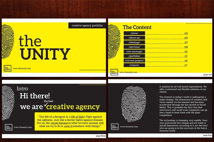 Unity Graphic Designs Portfolio ~ PowerPoint Templates ...