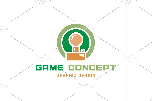 Game Joystick Illustration Of The Trend In Flat Style