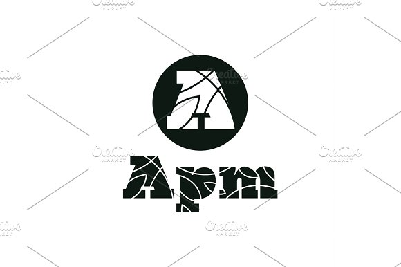Logo Letter A Flat Style Vector Illustration