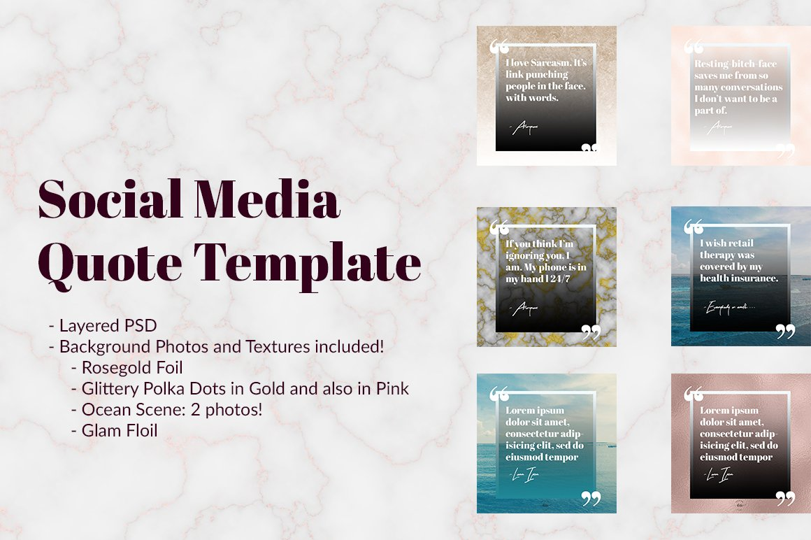 Social Media Quote Template ~ Templates ~ Creative Market