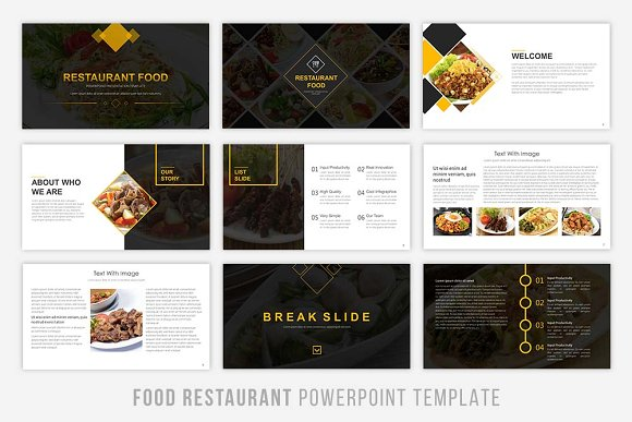 food presentation powerpoint presentation templates creative market