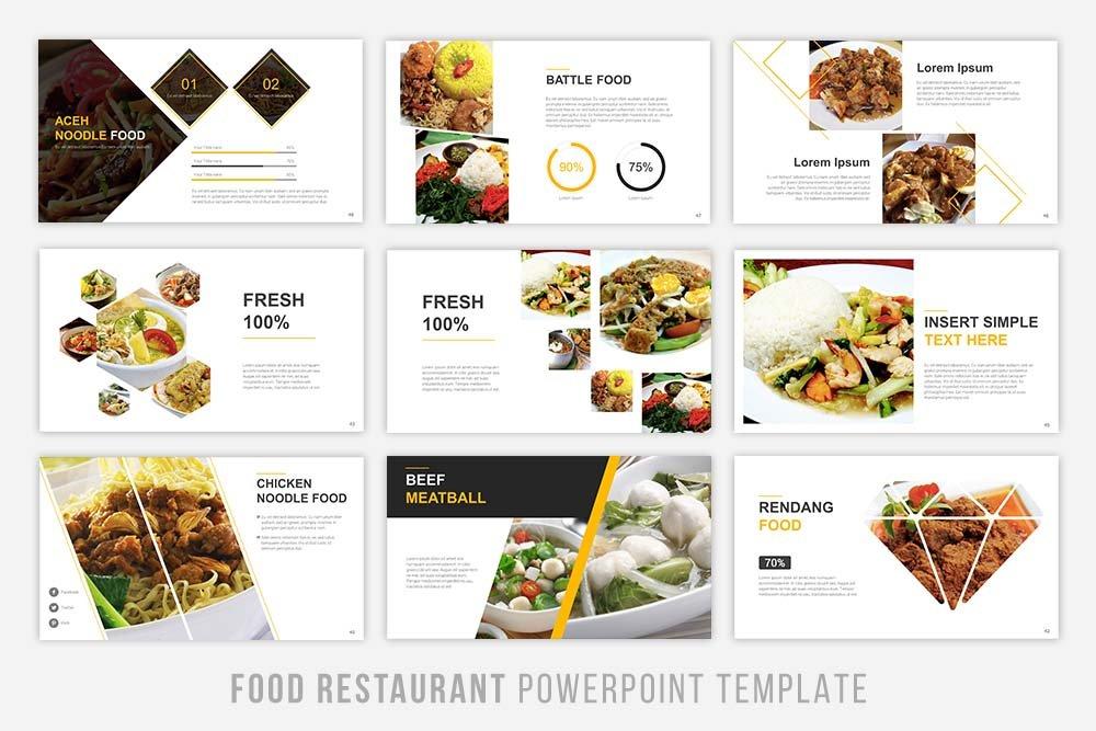 food presentation powerpoint graphic. Black Bedroom Furniture Sets. Home Design Ideas