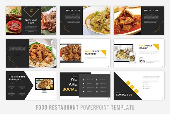 Food presentation powerpoint presentation templates creative market forumfinder Image collections