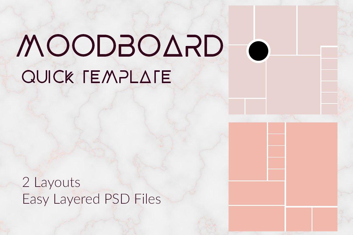 moodboard instagram or blog template templates creative market. Black Bedroom Furniture Sets. Home Design Ideas