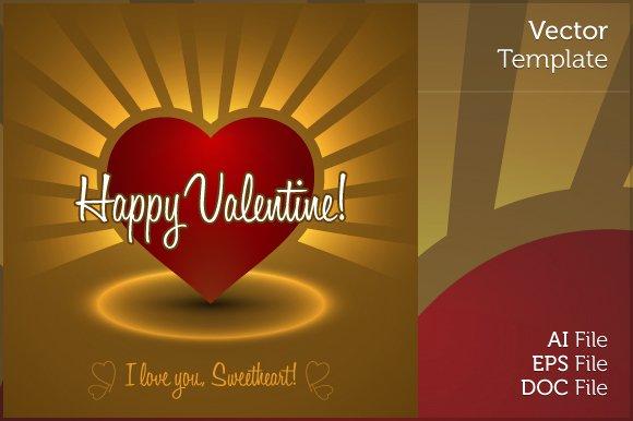 Editable Valentine Greetings Card