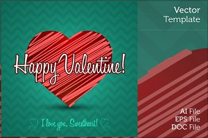 Isolated Valentine Greetings Card