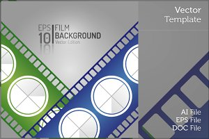 Vintage Cinema Film Isolated Vector