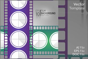 Editable Cinema Film Isolated Vector