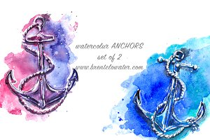 watercolor ANCHORS  jpgs 2@300dpi