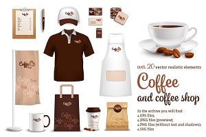 Coffee Realistic Set