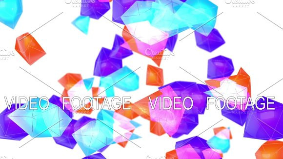 Abstract Low Poly Particles Loop Background Full HD 3D Render