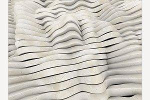 Marble geometric wavy background.