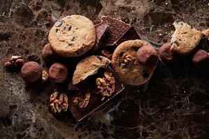 Fresh homemade chocolate chip cookies