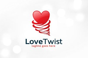 Love Twist Logo Template Design