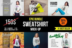 Epic Sweatshirt Mock-Up Bundle