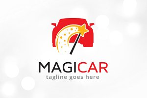Magic Car Logo Template Design