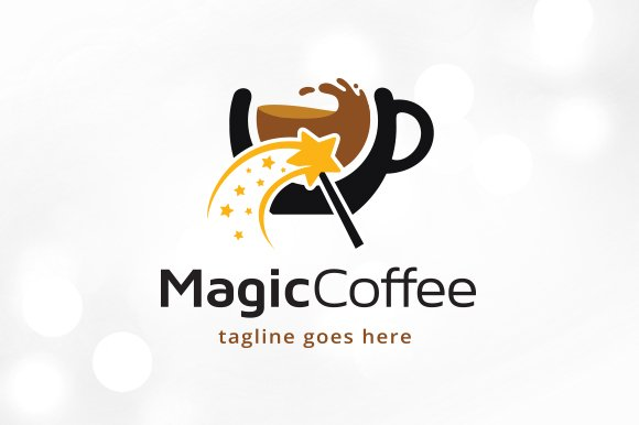 Magic Coffee Logo Template Design