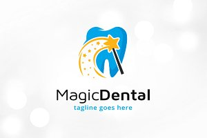 Magic Dental Logo Template Design