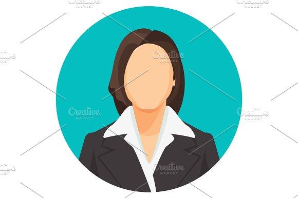 Avatar Businesswoman Portraits In Four Circles Vector User Pics