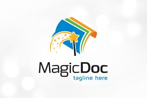 Magic Document Logo Template Design