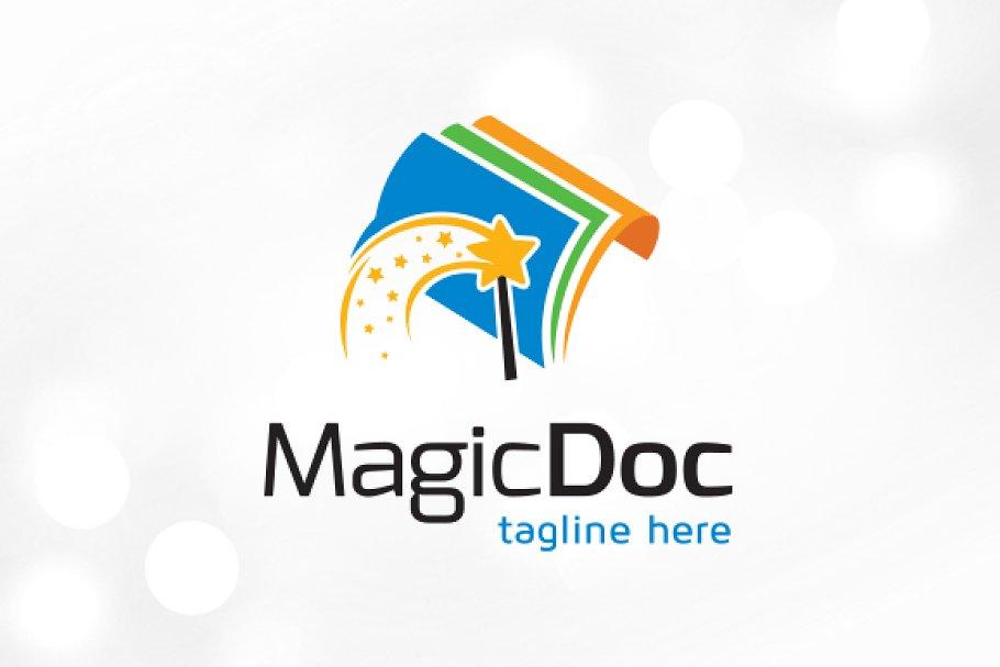 Magic Document Logo Template Design