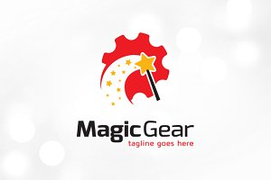 Magic Gear Tech Logo Template Design