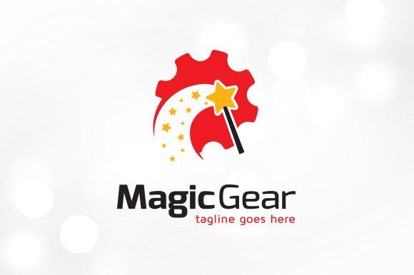 Magic Gear Tech Logo Template Design