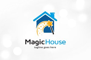 Magic House Logo Template Design
