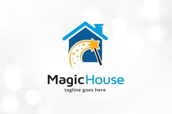 Magic House Logo Template Design