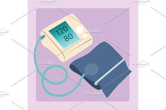 Sphygmomanometer Measures Blood Pressure Readings Of 120 80