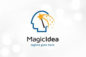 Magic Idea Logo Template Design