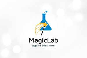 Magic Lab Logo Template Design