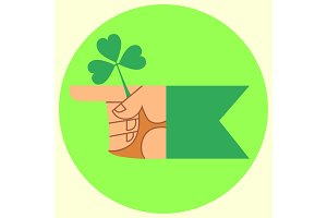 cursor on the festival day of Patrick hand and Shamrock