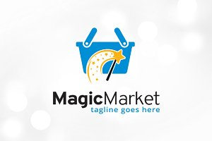 Magic Market Logo Template Design