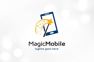 Magic Phone Logo Template Design