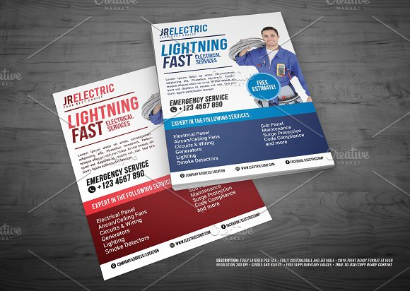 Electrical Service Flyer V2 Templates Creative Market