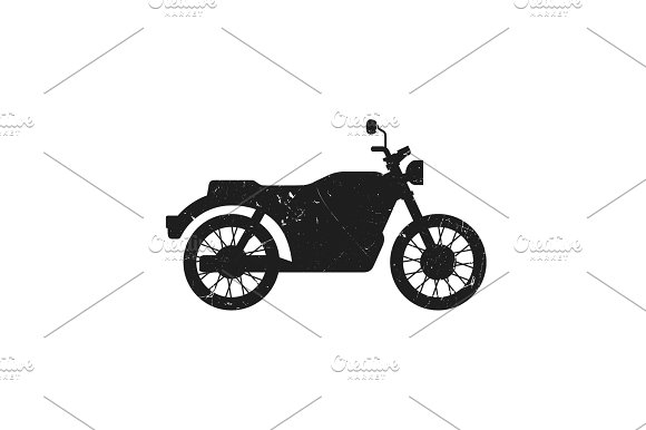 Classic Bike Grunge Silhouette