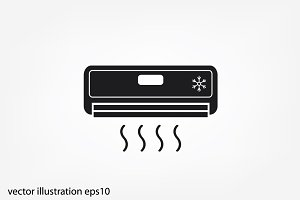 air conditioning vector icon