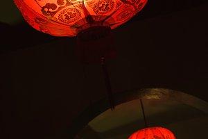 Chinese red lantern street