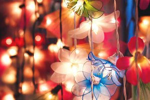 Flower garland lightning