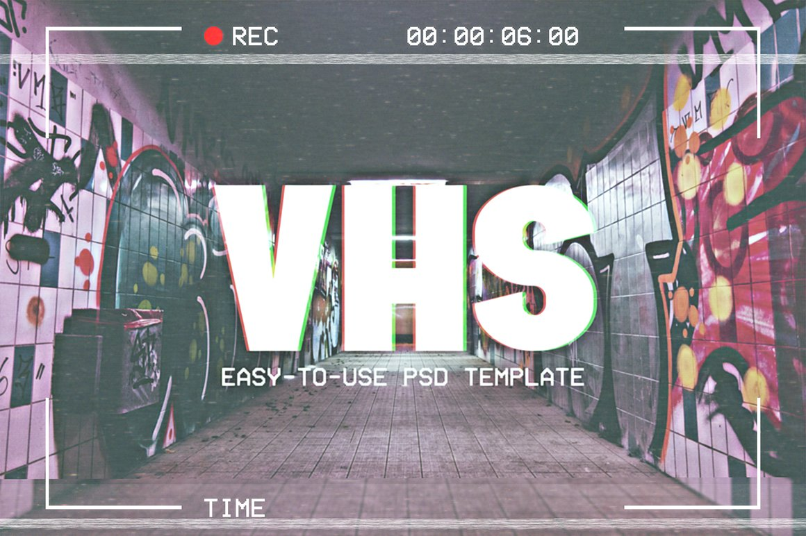 VHS Template ~ Actions ~ Creative Market