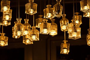 Retro luxury interior lighting
