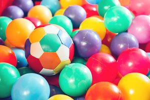 Colorful plastic balls
