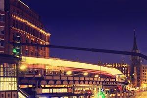Beautiful night city. Hamburg.