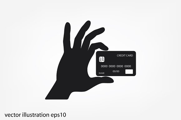 Hand And Credit Card Icon