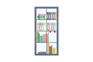 Office Bookcase with Folders