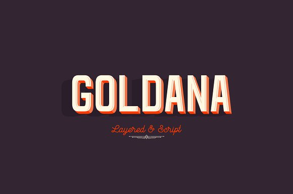Goldana Fonts + extras
